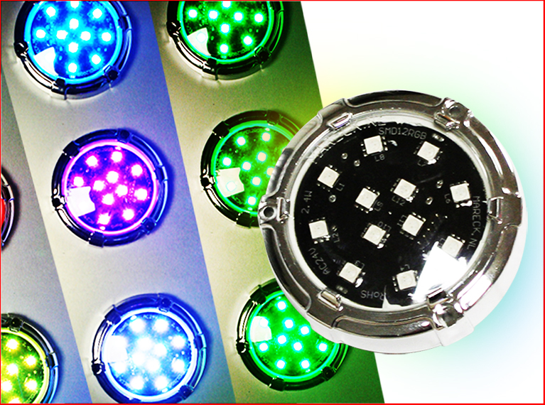 a einbau rgb smd led cap ac24v 3w inklusive ring und deckel. Black Bedroom Furniture Sets. Home Design Ideas