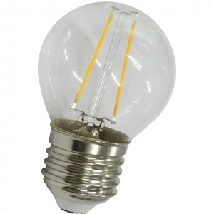 100pcs E-27 G45 FILAMENT LED BULB 220V 2W 2400-2600K