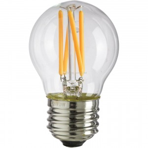 100pcs E-27 G45 FILAMENT LED BULB 220V 4W 2400-2600K